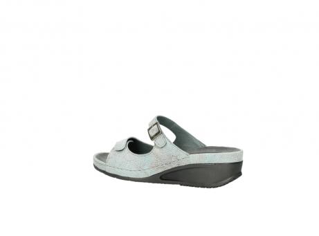 wolky slippers 0426 mundaka 679 mintgroen kaviaarprint leer_3