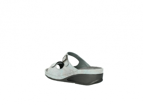 wolky slippers 0426 mundaka 679 mintgroen kaviaarprint leer_4