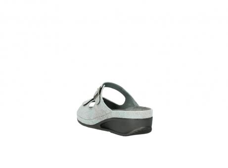 wolky slippers 0426 mundaka 679 mintgroen kaviaarprint leer_5
