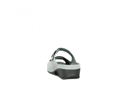 wolky slippers 0426 mundaka 679 mintgroen kaviaarprint leer_6