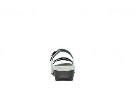 wolky slippers 0426 mundaka 679 mintgroen kaviaarprint leer_7