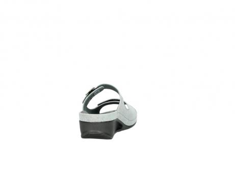 wolky slippers 0426 mundaka 679 mintgroen kaviaarprint leer_8