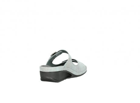 wolky slippers 0426 mundaka 679 mintgroen kaviaarprint leer_9