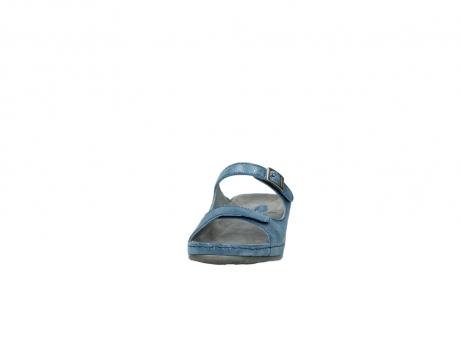 wolky slippers 0426 mundaka 681 oceaan kaviaarprint leer_20