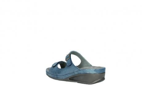 wolky slippers 0426 mundaka 681 oceaan kaviaarprint leer_4