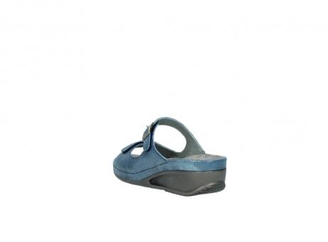 wolky slippers 0426 mundaka 681 oceaan kaviaarprint leer_5