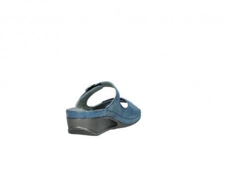 wolky slippers 0426 mundaka 681 oceaan kaviaarprint leer_9