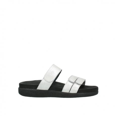 wolky slippers 0501 cirrus 919 parelwit metallic leer