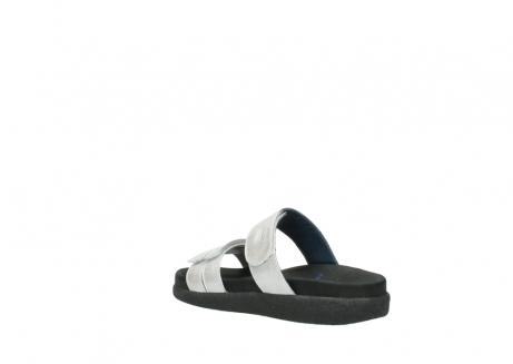 wolky slippers 0501 cirrus 919 parelwit metallic leer_4