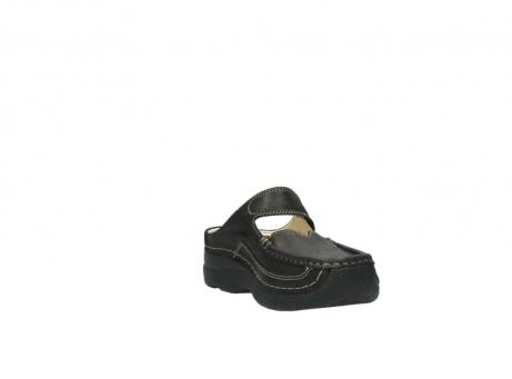 wolky pantoletten 06227 roll slipper 10300 braun metallic leder meliert_17