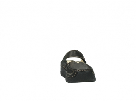 wolky pantoletten 06227 roll slipper 10300 braun metallic leder meliert_18