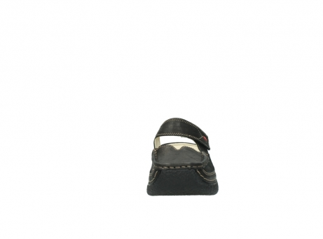 wolky pantoletten 06227 roll slipper 10300 braun metallic leder meliert_19