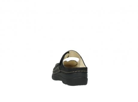 wolky pantoletten 06227 roll slipper 10300 braun metallic leder meliert_6