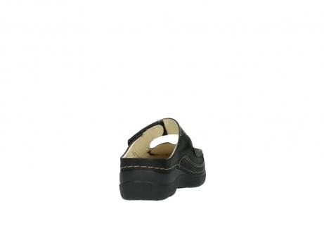 wolky pantoletten 06227 roll slipper 10300 braun metallic leder meliert_8