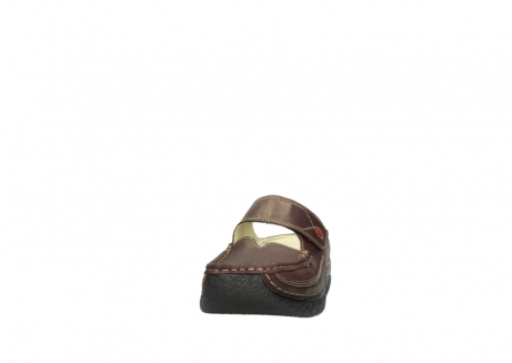 wolky slippers 06227 roll slipper 10620 bordeaux metallic gemeleerd leer_20