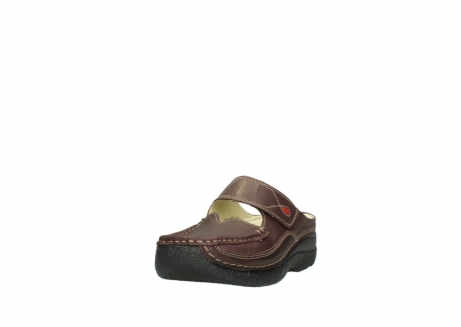 wolky slippers 06227 roll slipper 10620 bordeaux metallic gemeleerd leer_21
