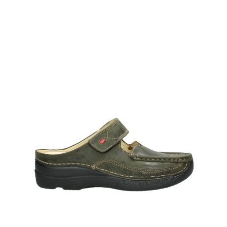 wolky pantoletten 06227 roll slipper 10733 forest grun
