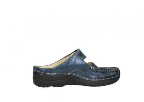 wolky pantoletten 06227 roll slipper 10823 marineblau metallic nubuk_12