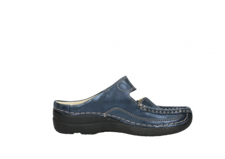 wolky pantoletten 06227 roll slipper 10823 marineblau metallic nubuk_13