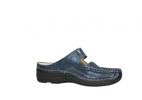 wolky pantoletten 06227 roll slipper 10823 marineblau metallic nubuk_14