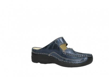 wolky pantoletten 06227 roll slipper 10823 marineblau metallic nubuk_15