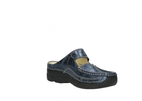 wolky pantoletten 06227 roll slipper 10823 marineblau metallic nubuk_16