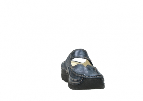 wolky pantoletten 06227 roll slipper 10823 marineblau metallic nubuk_18