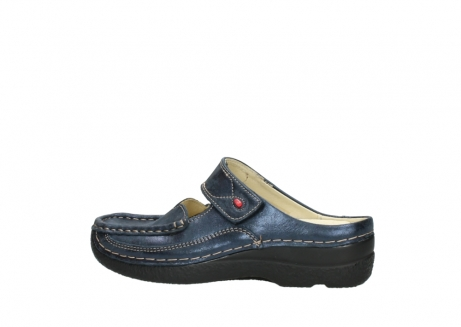 wolky pantoletten 06227 roll slipper 10823 marineblau metallic nubuk_2