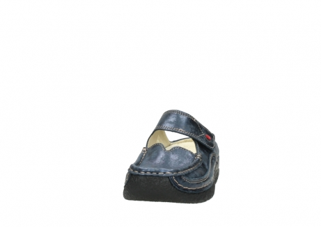 wolky pantoletten 06227 roll slipper 10823 marineblau metallic nubuk_20