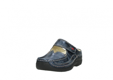 wolky pantoletten 06227 roll slipper 10823 marineblau metallic nubuk_21