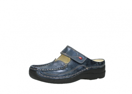 wolky pantoletten 06227 roll slipper 10823 marineblau metallic nubuk_23