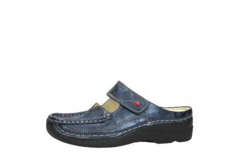 wolky pantoletten 06227 roll slipper 10823 marineblau metallic nubuk_24