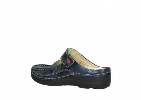 wolky pantoletten 06227 roll slipper 10823 marineblau metallic nubuk_3