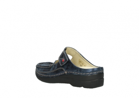 wolky pantoletten 06227 roll slipper 10823 marineblau metallic nubuk_4