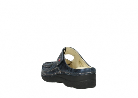 wolky pantoletten 06227 roll slipper 10823 marineblau metallic nubuk_5