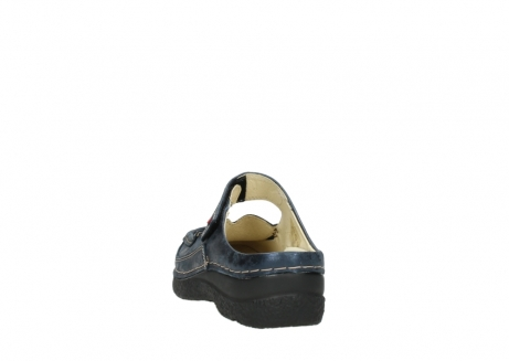 wolky pantoletten 06227 roll slipper 10823 marineblau metallic nubuk_6