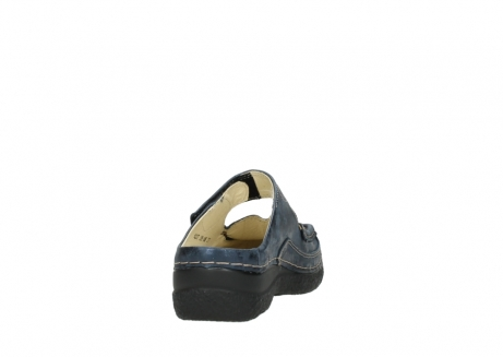 wolky pantoletten 06227 roll slipper 10823 marineblau metallic nubuk_8