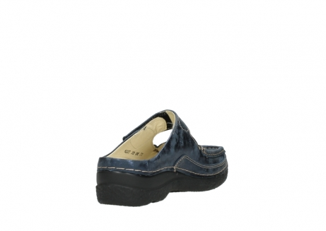 wolky pantoletten 06227 roll slipper 10823 marineblau metallic nubuk_9