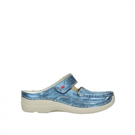 wolky slippers 06227 roll slipper 10870 blauw nubuck