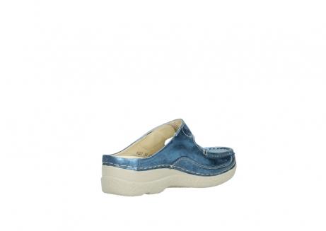 wolky slippers 06227 roll slipper 10870 blauw nubuck_10
