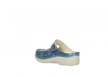 wolky slippers 06227 roll slipper 10870 blauw nubuck_4