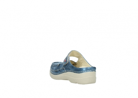 wolky slippers 06227 roll slipper 10870 blauw nubuck_5