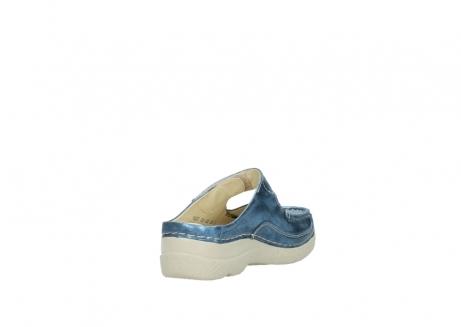 wolky slippers 06227 roll slipper 10870 blauw nubuck_9