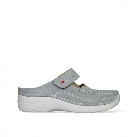 wolky slippers 06227 roll slipper 15206 light grey nubuck