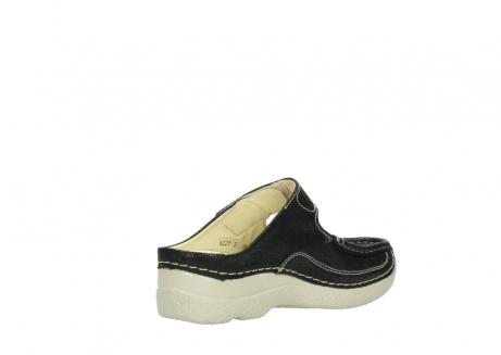 wolky slippers 06227 roll slipper 90070 zwart dots nubuck_10