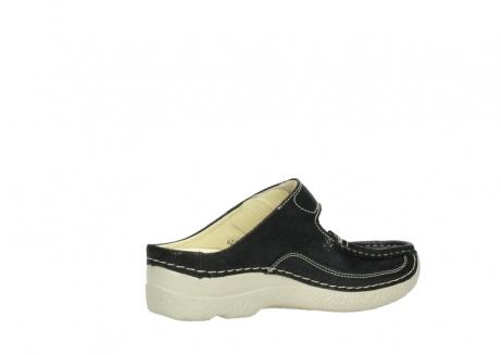 wolky slippers 06227 roll slipper 90070 zwart dots nubuck_11