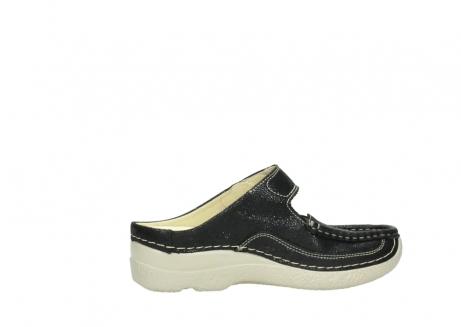 wolky slippers 06227 roll slipper 90070 zwart dots nubuck_12
