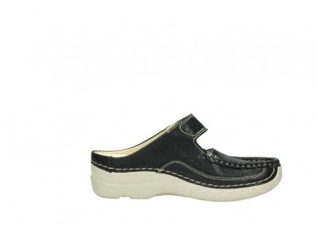 wolky slippers 06227 roll slipper 90070 zwart dots nubuck_13