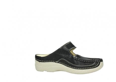 wolky slippers 06227 roll slipper 90070 zwart dots nubuck_14