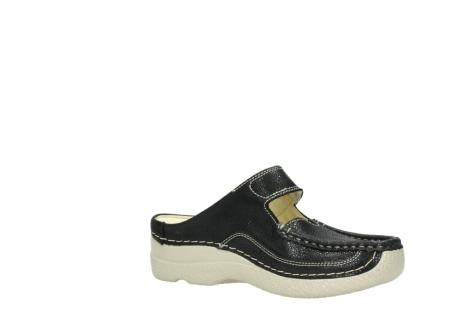 wolky slippers 06227 roll slipper 90070 zwart dots nubuck_15